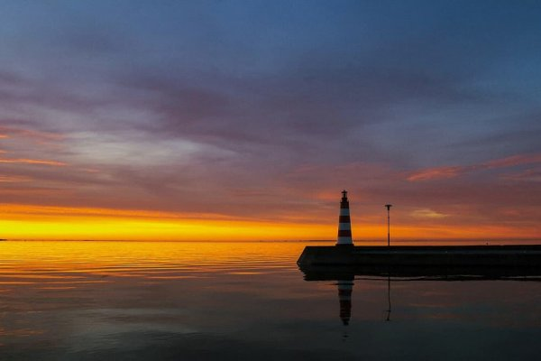 Sunset in the Curonian Lagoon with Yacht Ausrine