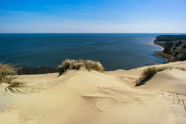 grand dune in nida with yacht