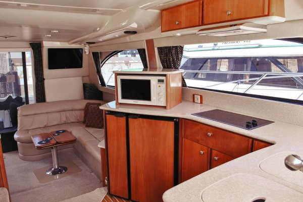 yacht ausrine interior design of the kitchen